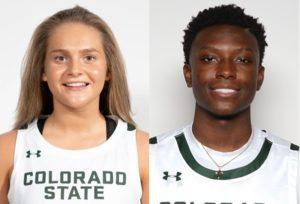 CSU Rams McKenna Hofschild and Isaiah Stevens